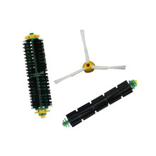 3 Pc/lot Bristle & Flexible Beater Brush for Irobot Roomba 500 527 528 530 532 535 540 560 562 570 572 580 581 590