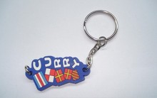 New Design PVC Custom Logo Keychain Letter Keyrings Promotional Products With Logo Customized Keyrings chaveiros personalizado(China)