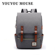 YOUYOU MOUSE Fashion Women Canvas Backpack Men Oxford Travel Backpacks Retro Casual Backpacks School Bags For Teenagers