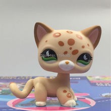 Girl's Collection LPS figure Short Hair Cat European #852 classic animal pet lps toys kitty Yellow cat with green eyes