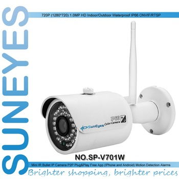 SunEyes  SP-V701W 720P HD Mini IP Camera Outdoor Wireless Waterproof  ONVIF and RTSP Support IR Night Vision Free P2P