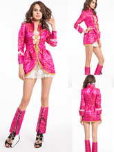 free shipping 2015 party costume Ladies Fever Pink Pirate Costume,Fancy Dress Costume(China)