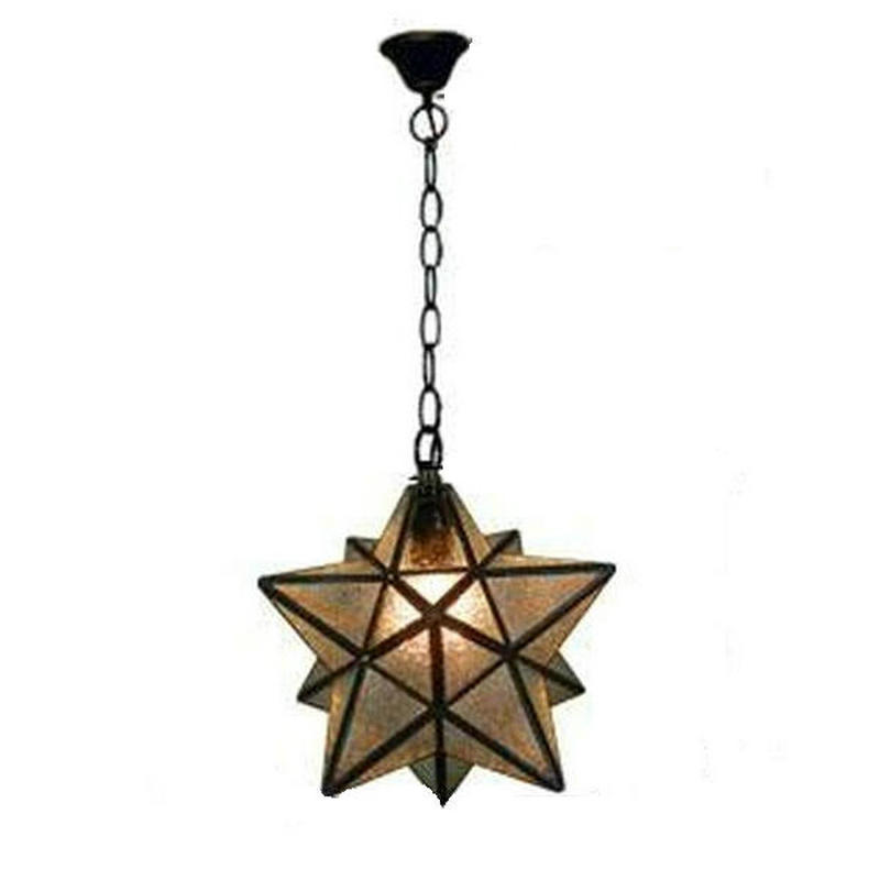 Discount Industrial Vintage Glass Monrovian Moravian Star Pendant Light  Fixtures For Kitchen Bar(China (