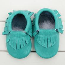 0-24 M Genuine Leather tassels Baby moccasins Girls Newborn Anti-slip infant Shoes Toddler First Walker Soft Moccs Bebe boots