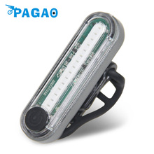 PAGAO USB Rechargeable COB LED Light for Outdoor Bicycle Safety Warning Bike Tail Lights Front Frame Rear Lamp 0146(China)