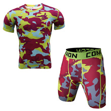 ZYMFOX Men Sportswear Gym Sport Suit Quick Dry Basketball Soccer Running Sets Summer Short Sleeves T shirt Short Tights 2pcs/set(China)