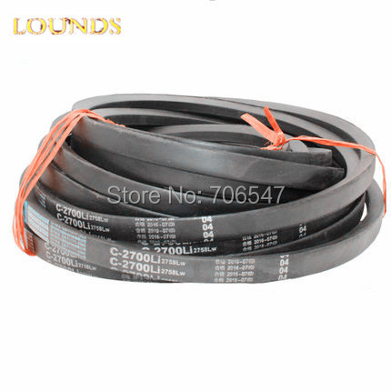 FREE SHIPPING  CLASSICAL WRAPPED V-BELT C1448 C1499 C1600 C1651 C1702 C1753 C1803 Li  Industry  Black Rubber C Type Vee V Belt<br>