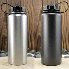 1000ml Sports Stainless Steel Vacuum Water Bottle Flask Cycling Outdoor Sport Travel Lid Thermoses Warm Bottles
