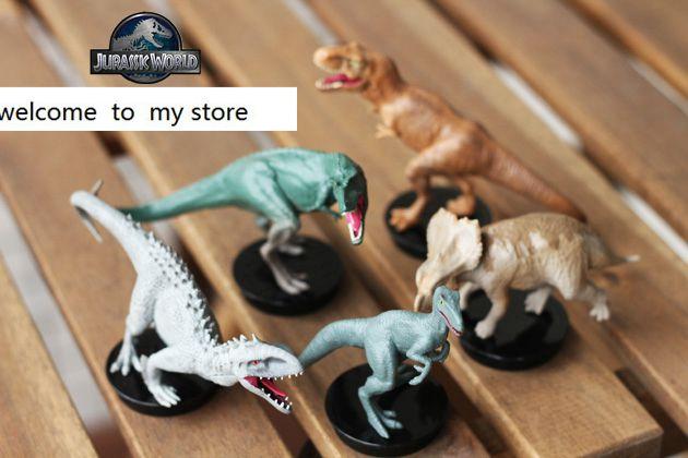 PVC figure Doll model toy  Solid Jurassic world dinosaur toy simulation model children animal toy boy gift Tyrannosaur 3pcs/set<br>