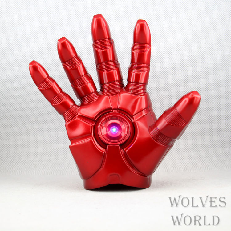 Christmas Free Shipping Marvel Comics Superhero Iron Man Mark Gloves with LED Light Soft PVC Action Figure Toy 1pcs gifts<br>
