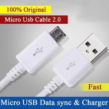 100% Original Micro USB Cable Fast Charger for Samsung Galaxy S4 S6 S7 Note 4 5 Mircro usb Data Cable for xiaomi redmi 4 pro mi5