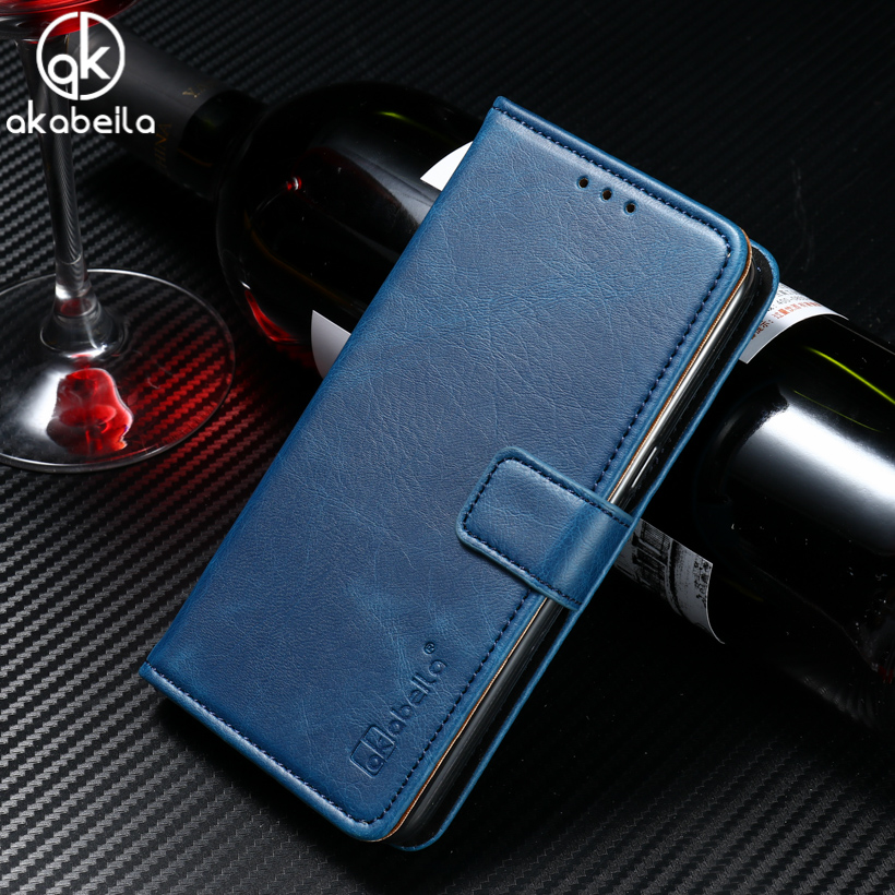 AKABEILA Stand Flip Wallet PU Leather Phone Bags Cases Doogee Homtom HT7 HT7 Pro 5.5 INCH Mobile Phone Accessories & Parts