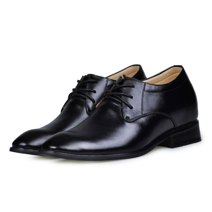 8128-Black patent/cow leather dress elevator shoes in black color elevate height taller 7CM for groom men Sz38-43 Free Shipping<br><br>Aliexpress