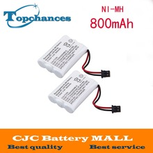 2 Pcs Home Cordless Phone Battery for Uniden BT-446 BT446 ER-P512 3.6V 800MAH NI-MH