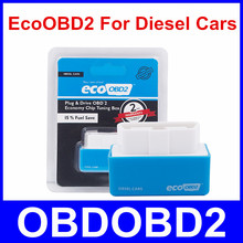 Blue EcoOBD2 Diesel Car Chip Tuning Box Eco OBD2 Plug and Drive Lower Fuel and Lower Emission NitroOBD2 Free Shipping