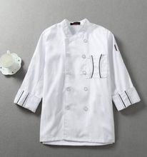 white long sleeve chef uniform chef jacket chef coat kitchen chef uniform