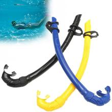 Underwater Dive Breathing Tubes Flexible Silicone Underwater Snorkel Diving Snorkeling Scuba Air Tube(China)
