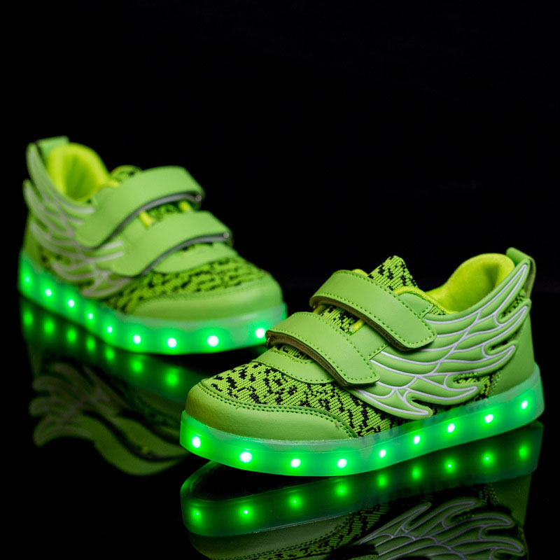 Mamimore Wings LED Children Glowing Sneakers Shoes Breathable Light Shoes Kids Casual Shoes Boys Girls Chaussure Enfant<br><br>Aliexpress