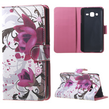 For Samsung Galaxy J2 Phone Case Exquisite Bloom Bud Painting Leather Case For Samsung Galaxy J2 J200F Phone Bag Flip Cover Case(China)