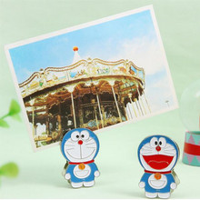 4 pcs/lot Doraemon Cat metal message Clip for Message Decoration Photo Office Supplies Accessories Free shipping