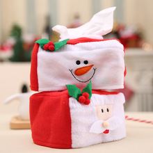 1Pcs Merry Christmas S Size Snowman Santa Tissue Box Cover Christmas Home Decoration Creative Napkin Holder 2 Styles Choice