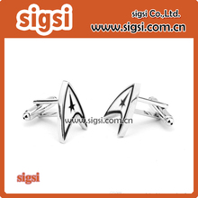 Jewellery star trek ensign Badge wars cufflinks male French shirt cuff links for men's Jewelry Gift free shipping