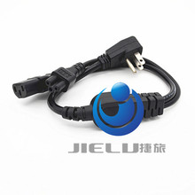 2 in 1 Multi function Power Cord USA US flat plug to IEC 320 C5 C13 Power cord ,0.3M,1 pcs