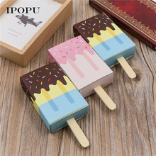 10pcs/lot Ice Cream Shape Gift Boxes New Year Party Children Birthday Christmas Candy Biscuit Box Cartoon Drawer Kids Favor Box(China)