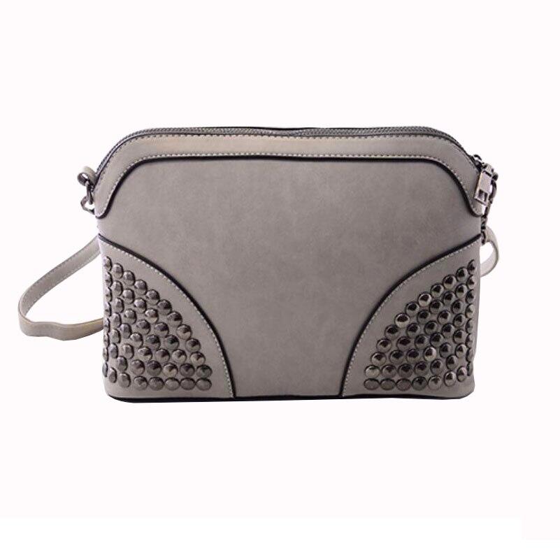 JM018  Women handbags 26.5*19*7cm New winter frosted shell bag Shoulder Messenger packet female rivet bag<br><br>Aliexpress