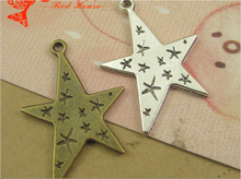 28*21MM Retro star jewelry pendant ZAKKA mobile phone accessories, star charm pendant beads, antique bronze vintage dangle charm(China)