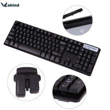 USB 2.4Ghz Wireless Keyboard Mouse Set Waterproof 1600DPI Multimedia Gaming Mice for Computer PC Desktop(China)