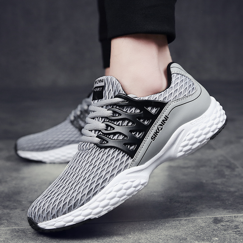 2017 Spring Autumn Men Casual Shoes Lightweight Gym Sport Breathable Comfort Mens Trainers Lace Up Flat Shoes Size 36-44<br><br>Aliexpress