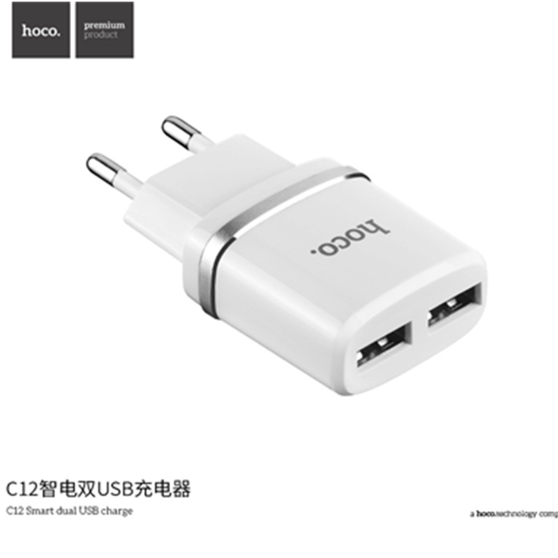 HOCO 5V 2.4A Universal Dual USB Charger Wall Charger EU US Plug Portable for iPhone Samsung Xiaomi Charging Double USB Adapter(China (Mainland))