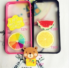Funny Watermelon Lemon Bear Flatback Resin Cabochon Craft For diy mobile phone case headband supplies Decoration Scrapbooking(China)