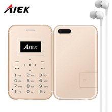 2017 Ultra Thin Card Mobile Phone AIEK/AEKU X8 Low Radiation mini pocket students personality children phone PK SOYES X6 M5 U8