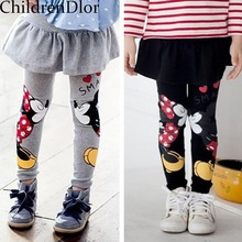 Baby Girls Leggings Winter 2015 New Velvet Children Leggings Girls Pants Warm Character Kids Pantskirt Baby Girls Dress Leggings