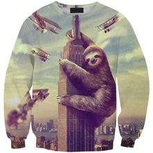 People Fight with Bear print sweat women&male funny cartoon animal 3D hoodie sweatshirt top dropshipping