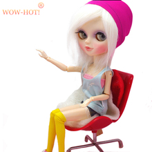 WOWHOT Plastic 1/6 BJD Doll Chairs Doll Accessories For Monster Dolls,Dollhouse Furniture Toys for Barbie Dolls Children Toy(China)