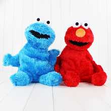 2pcs/lot Different Colors 48cm High Quality Sesame Street Plush Backpack Blue and Red Cookie Monster Plush Bag Kids Gift