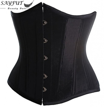 Plus Size 6XL Body Shapewear Fashion Womens Sexy Gothic Clothing Underbust Waist Trainer Lace up Corsets and Bustiers(China)