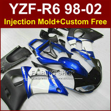 G7RV  Low price fairing parts for YAMAHA fairing kit YZF  R6 98-02 blue custom fairing YZF R6 1998 1999 2000 2001 2002 R67V