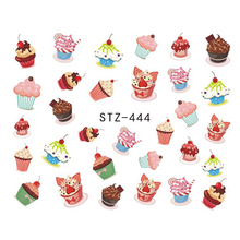 1 piece Delicious Cake Food Emoji Nail Sticker DIY Designs Water Transfer Nail Art Decals JISTZ444(China)