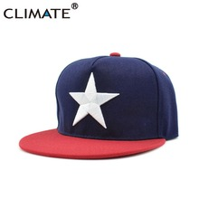 CLIMATE Youth Pentagram Star Hiphop Snapback Caps Dancer White Star Trucker Hip Hop Cool Caps Club Rock Adjustable Baseball Hat
