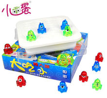 Candice guo Plastic toy Big Eat Small colorful Monster fold chess Logic play Game children birthday christmas gift 1set(China)