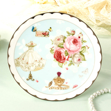 8 Inch Ceramic Plate Europe Elegant Bone China Cake Dishes & Plates Floral Porcelain Fruit Dessert Tray Dining Plates Dinnerware(China)