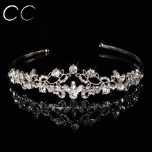 2016 New Free Shipping Top Austrian Tiaras Crowns for Women Fashion Hair Jewelry Bridal Hair Accessory Bijoux femme Gift F020