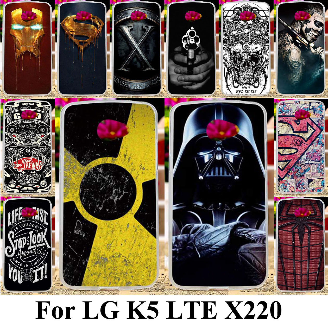 Taoyunxi Silicone Plastic Phone Case LG K5 LTE K500H X220 X220DS 5.0 inch Protective Bag Shell LG K5 Cover Cases