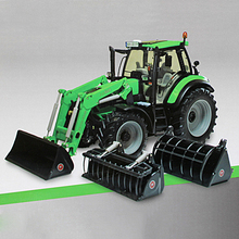 Original Weise-toys Metal Alloy DEUTZ-FAHR Agrotron 6190 TTV Tractor Excavator Agricultural Machinery Model Toys for Children