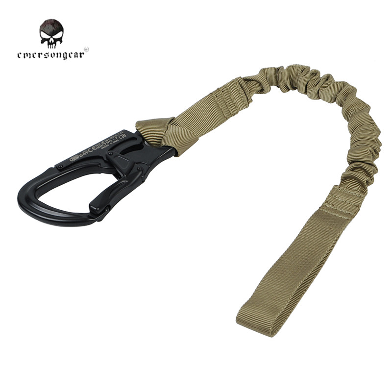 EMERSON 1000D Nylon Elastic Safety Lanyard Sling Tactical Outdoor Quick Release Safety Strap Adjustable Belt Outdoor Activities <br>
