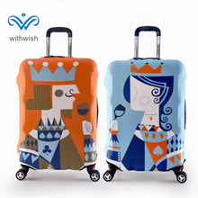 "Lovers Favorite Travel Luggages Suitcase Protective Cover High Elastic Suitcase Cover 4 Sizes S 20""/M 24""/L 28""/XL 30"" Optional(China)"